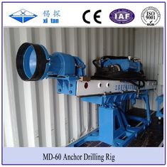 Portable Auger Drilling Rig Borehole Stepless Shift  / DTH Hammer Drilling MD - 60